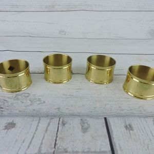 Other - Brass Gold Napkin Rings Set of 4 Dinner Party